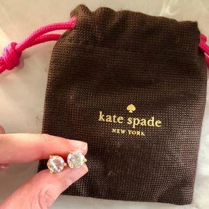 Kate Spade Original AB stone stud earrings